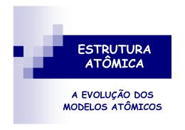 Aula 1 - Estrutura Atômica