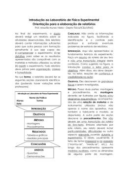 2. Orientações para Elaboração de Relatórios