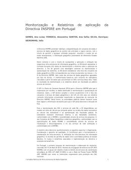 Monitorização e Relatórios de aplicação da Directiva