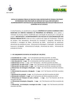 EDITAL DE CHAMADA PÚBLICA Nº 002/2015