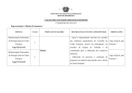 Serviços Externos - Instituto Diplomático
