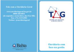 Informações sobre as mudanças e evolução do TAG