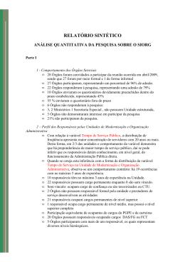 Relatório Sintético Pesquisa Quantitativa SIORG