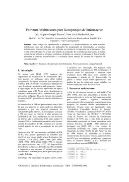 Estrutura Multitesauro para Recuperação de Informações