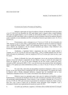 Exposição de motivos - Presidência da República
