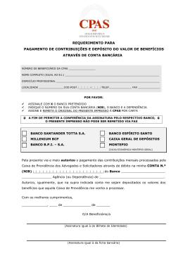 requerimento para pagamento de contribuições e depósito