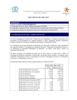 Documento de área 2013 - CAPES