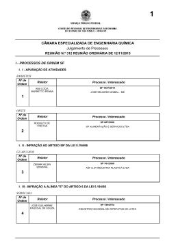 CÂMARA ESPECIALIZADA DE ENGENHARIA QUÍMICA - Crea-SP
