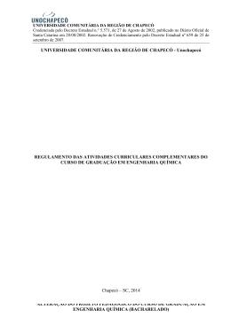 1ª versão DAC - Engenharia Química