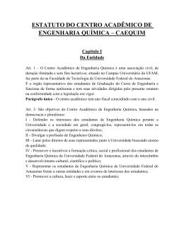 ESTATUTO DO CENTRO ACADÊMICO DE ENGENHARIA QUÍMICA