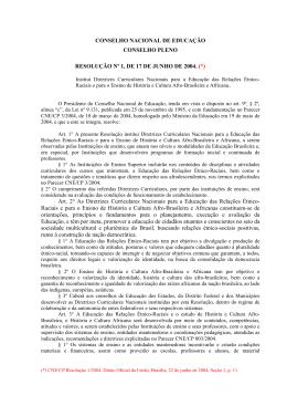 Resolução nº 1, de 17 de junho de 2004
