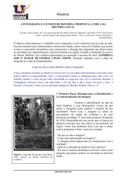 A Fotografia e o Ensino de História: Proposta a