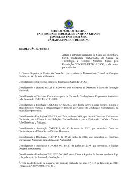 RESOLUÇÃO Nº 08.2014 - PPC Engenharia Civil