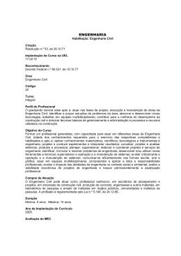 Habilitação: Engenharia Civil