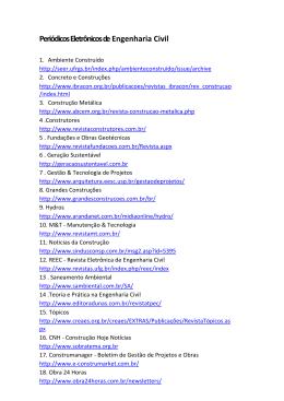 Periódicos Eletrônicos de Engenharia Civil