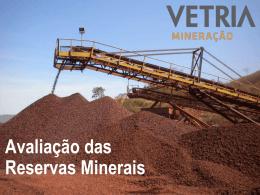 Avaliação das Reservas Minerais