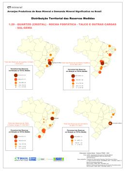 Distribuição Territorial das Reservas Medidas CT mineral 1.29