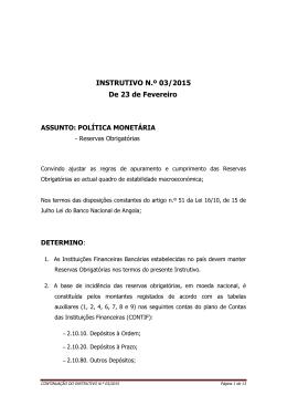 Instrutivo n.º 03/2015 de 23 de Fevereiro
