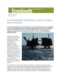 As Descobertas de Petróleo no Brasil Trazem Novos Desafios