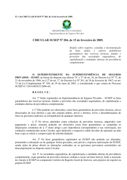 CIRCULAR SUSEP Nº 208, DE 2 DE DEZEMBRO DE 2002