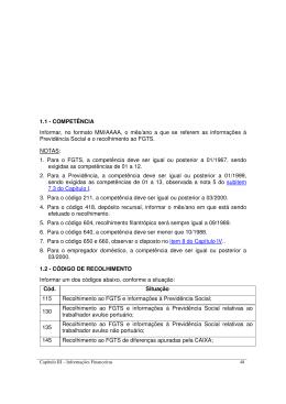 Código de Recolhimento.