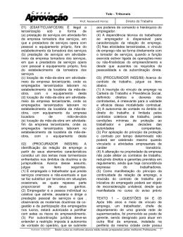 01) (ESAF/TCU/AFCE/99) É ilegal a