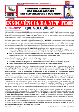 insolvência da new time