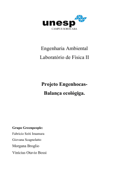 Engenharia Ambiental Laboratório de Física II