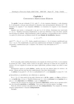 Cap´ıtulo 1 Conceitos e Resultados Básicos - IME-USP