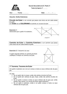 1º Teorema: Teorema de Euler
