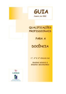 Qualificações Profissionais para a Docência