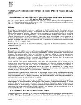 A IMPORTÂNCIA DO DESENHO GEOMÉTRICO NO ENSINO