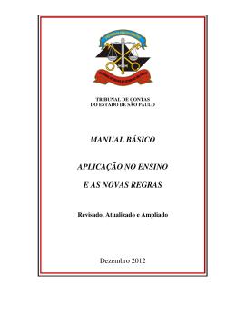 manual básico aplicação no ensino e as novas regras