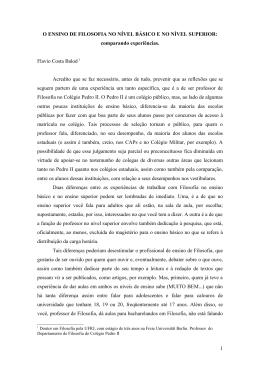 comparando experiências Flavio Costa Balod