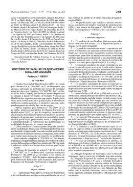 Portaria n.º 199/2011 - Catálogo Nacional de Qualificações