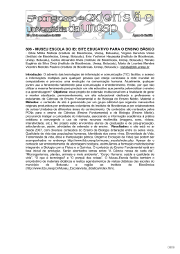 808 - MUSEU ESCOLA DO IB: SITE EDUCATIVO PARA O