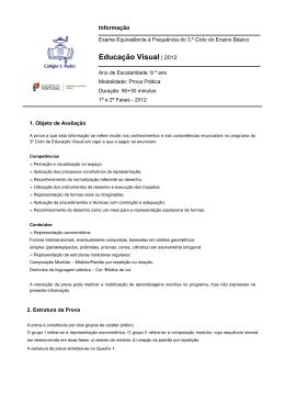 Educação Visual - Colégio de S. Pedro