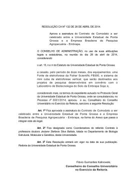 Resolução CA nº 132 de 28/04/2014