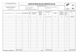MAPA DE MAIS-VALIAS E MENOS-VALIAS