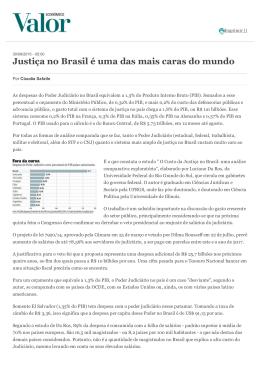 Justiça no Brasil é uma das mais caras do mundo