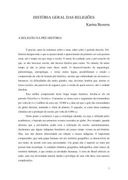 HISTÓRIA GERAL DAS RELIGIÕES Karina Bezerra