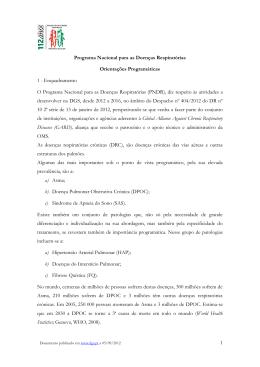 Programa Nacional para as Doenças Respiratórias - Direcção