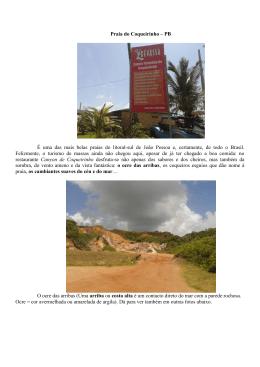 Praia do Coqueirinho – PB É uma das mais belas praias do litoral