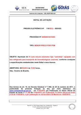 PREGÃO Nº ____ /2004 - Sistema de Gerenciamento de Conteúdo