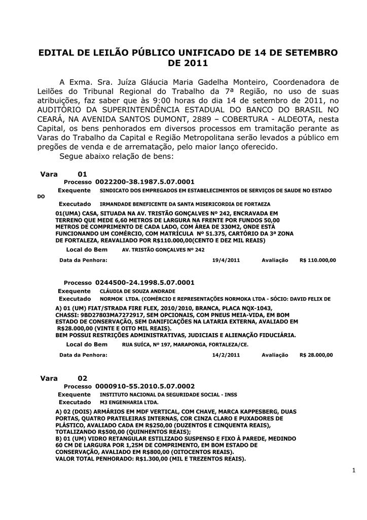 4e27cc5b3 edital de leilão público unificado de 14 de setembro de 2011