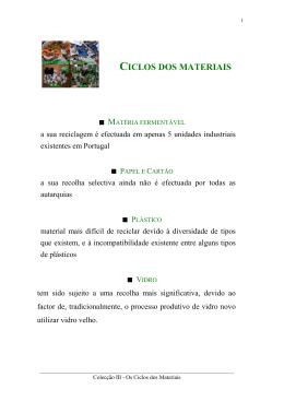 CICLOS DOS MATERIAIS