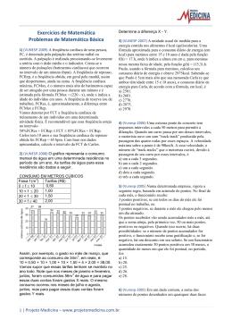 Exercícios de Matemática Problemas de