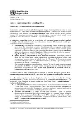 Campos electromagnéticos e saúde pública