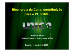 ALFRED SZWARE, Consultor de Emissões e Tecnologia da ÚNICA