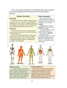 O seu corpo possui sistemas com diferentes estruturas e funções. A
